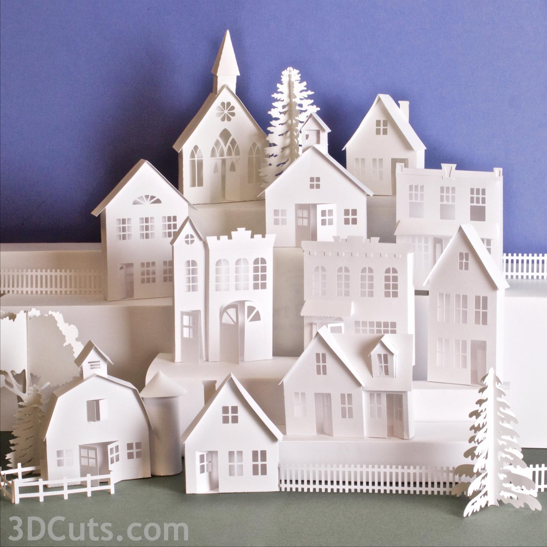 Ledge Village by Ma  rji Roy of 3DCuts.com