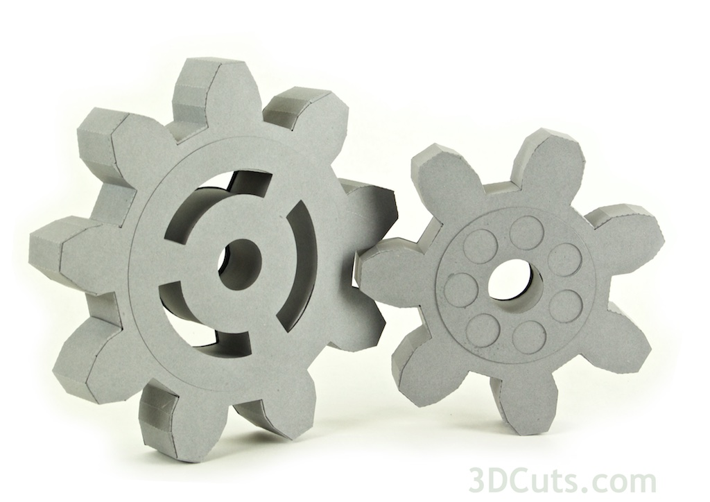 3d Steampunk Gears by 3dcuts
