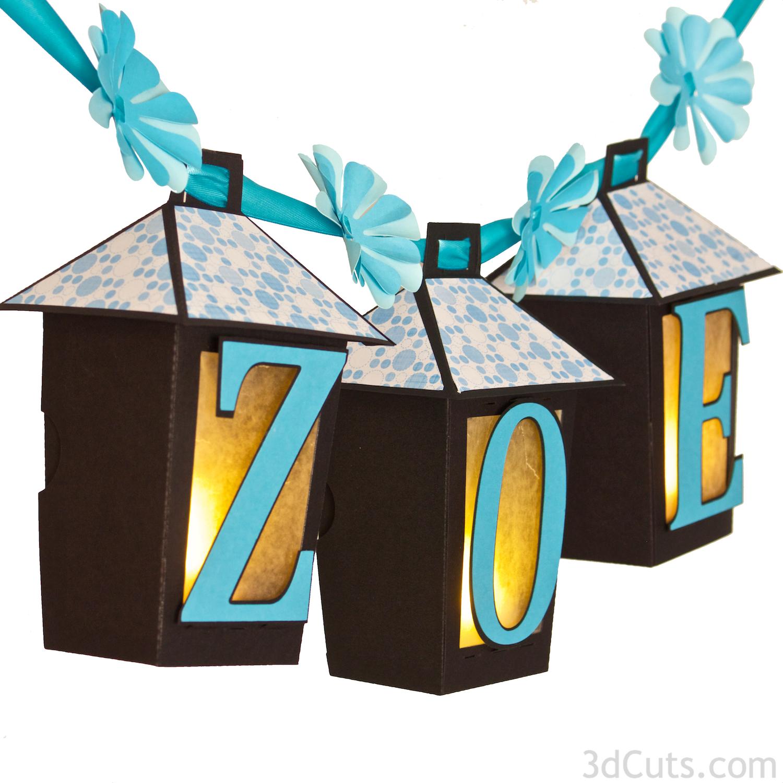Zoe Lanterns by Marji Roy of 3dcuts.com - SVG cutting files