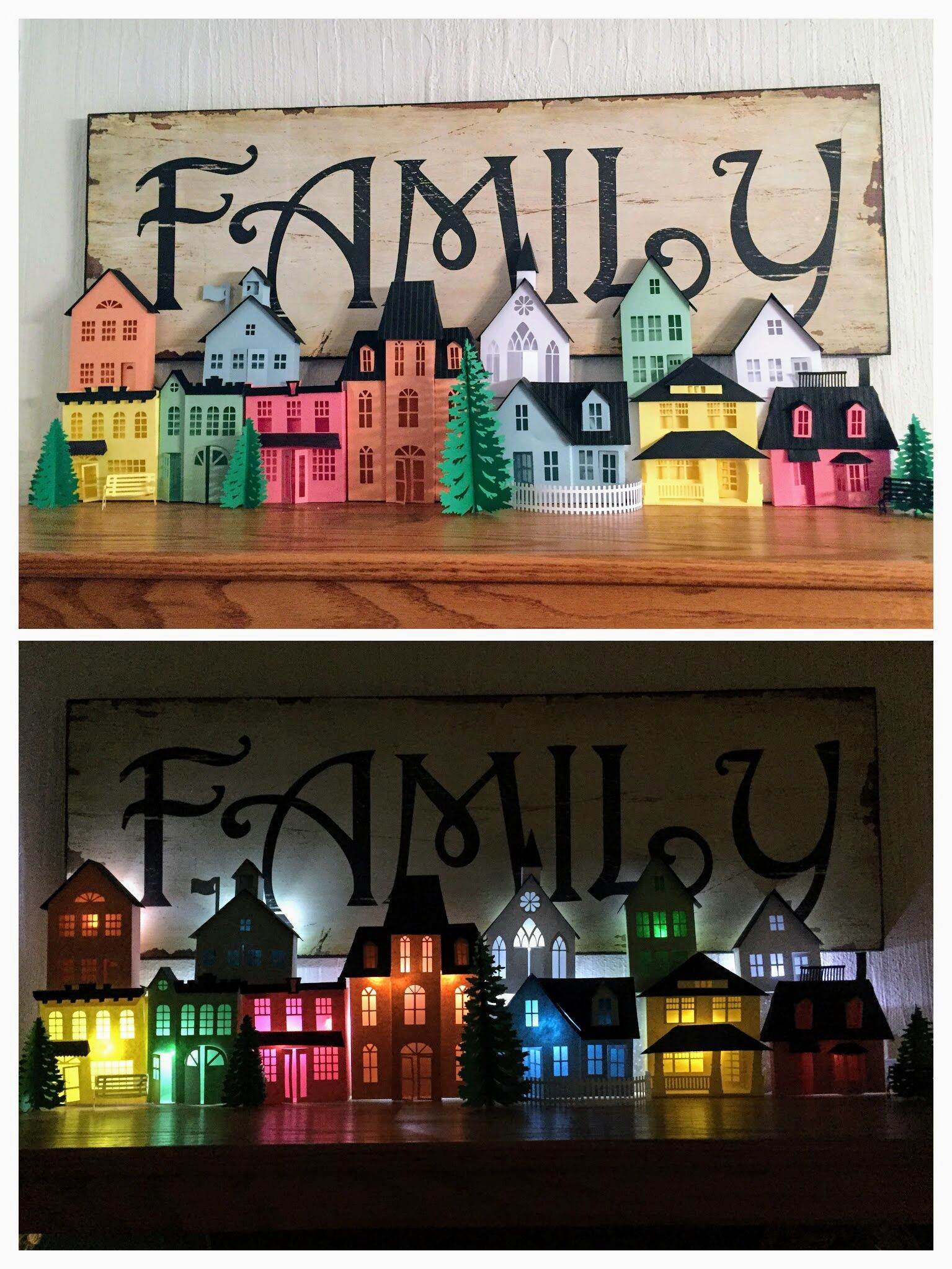 3DCuts Ledge Village by Diane Lachenmeier