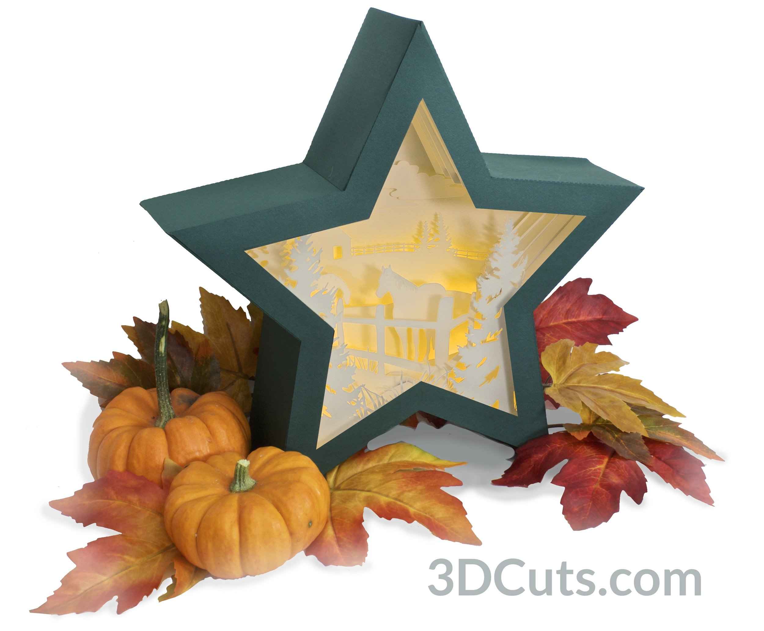 Stunning 3D illuminated shadow box by Marji Roy of 3dcuts.com. SVG, PDF, PNG and DXF cutting files and a complete tutorial available.