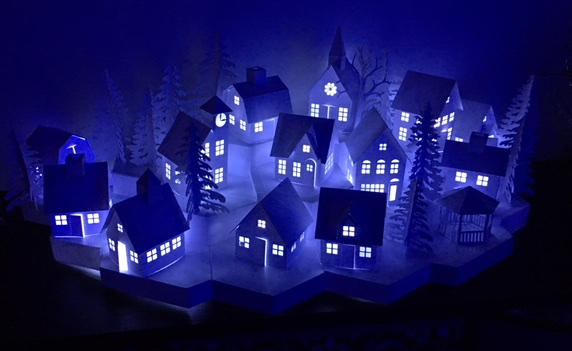 Tea Light Village by Barbara Eslick files by 3dcuts.jpg