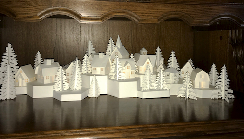 Tea Light Village by Marji Roy as assembled and photographed by Judi Kloock Russo