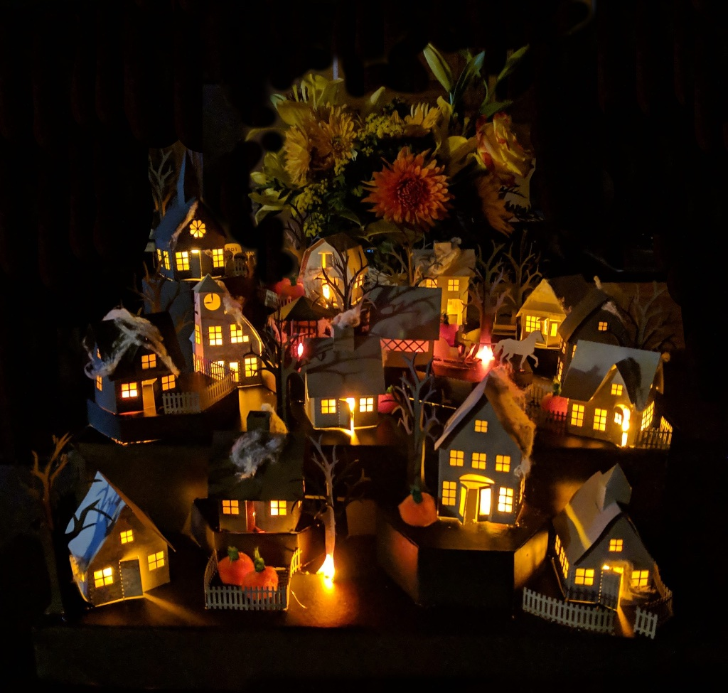 Tea Light Village crafted by Sam Madonia. Files from 3dcuts.com by Marji Roy