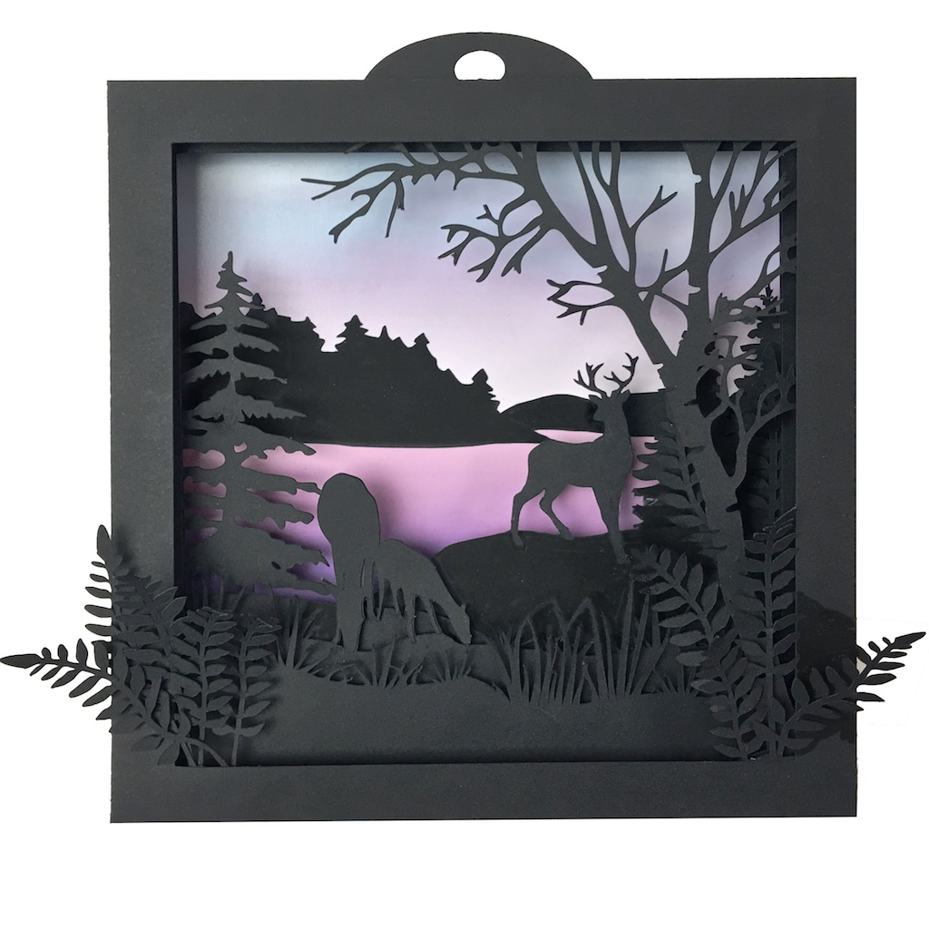 Deer Shadow box by Marji Roy 3dcuts white.jpg