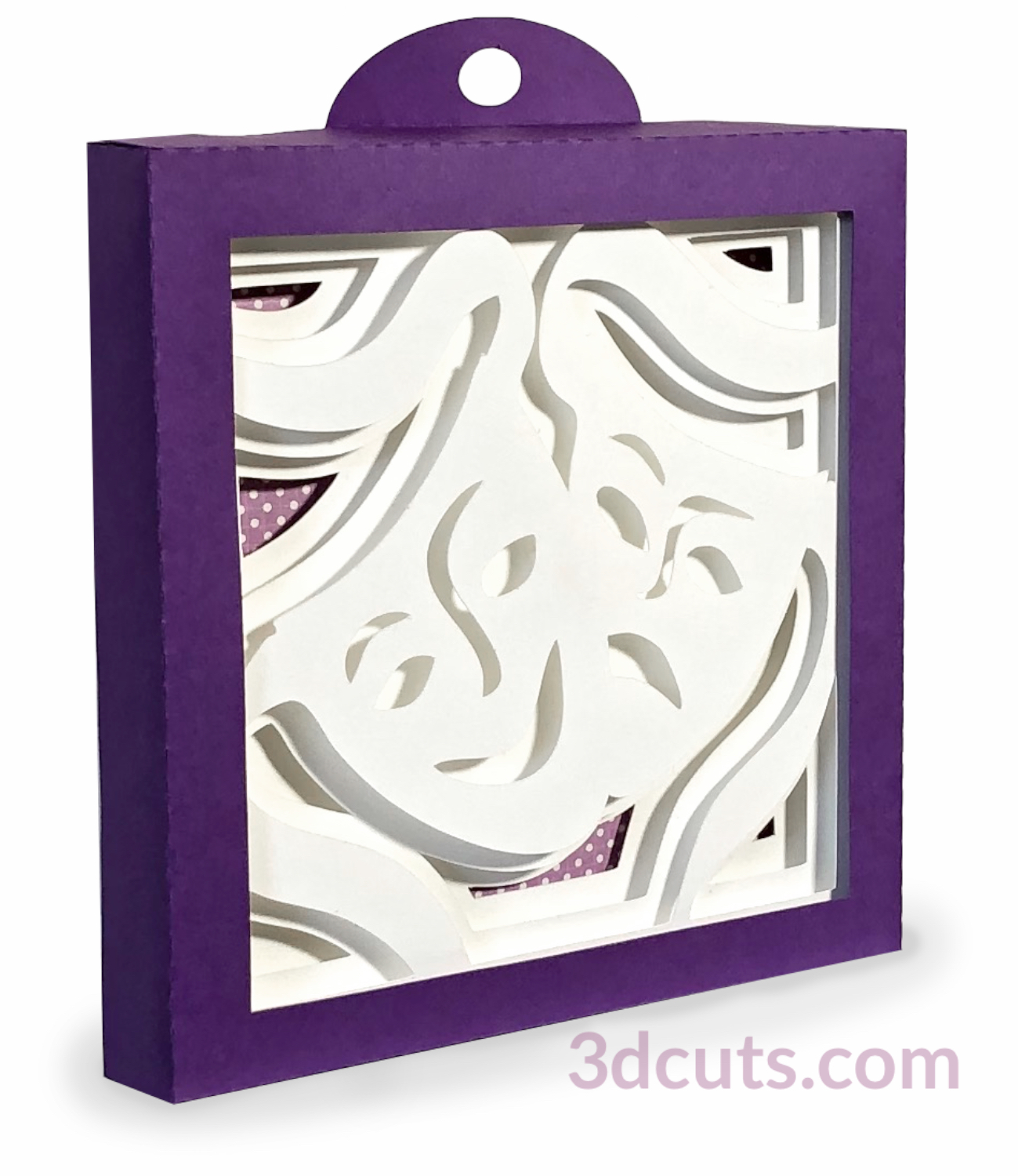 Drama Shadow Box , 3DCuts.com, Marji Roy, 3D cutting files in .svg, .dxf, and .pdf formats for use with Silhouette, Cricut and other cutting machines, paper crafting files