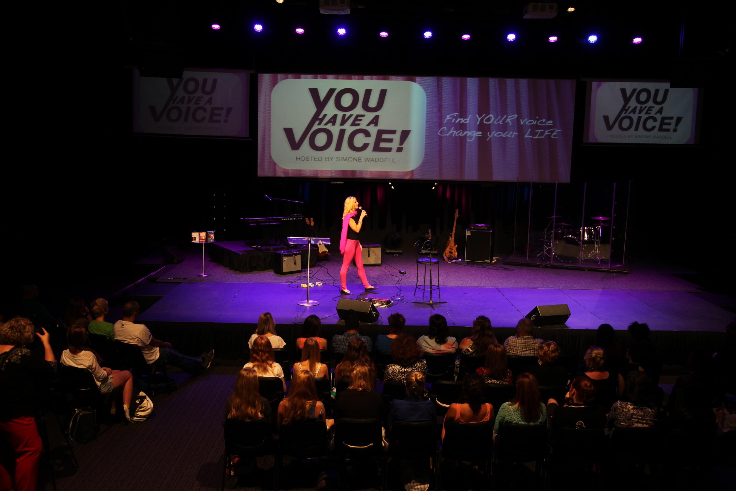 YOU HAVE A VOICElive vocal workshop.