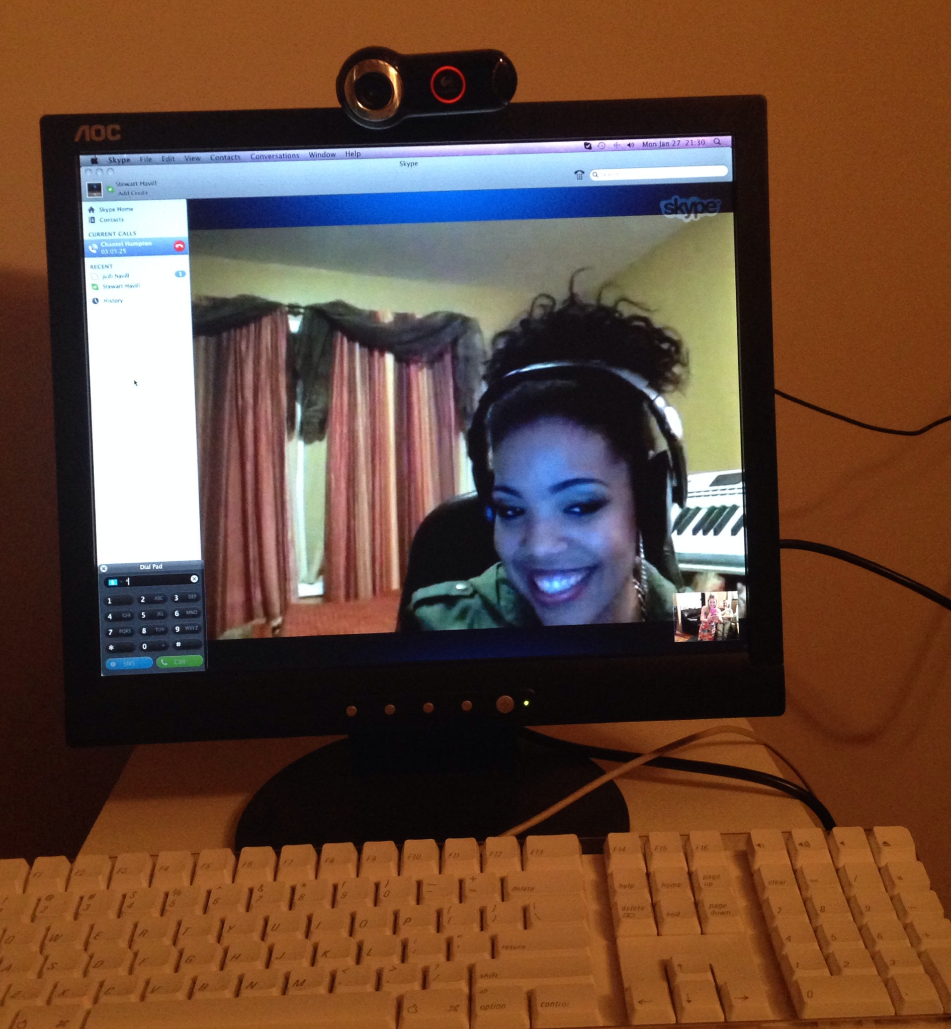 Here is Chantel Hampton from SMD - she drove the entire recording session via Skype from America. She also looks incredible, especially considering she never went to sleep at all. Dealing with international time zones!