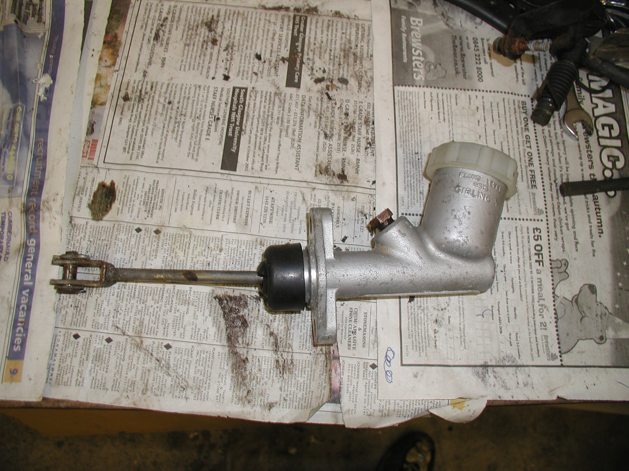 Rover SD1 clutch master cylinder