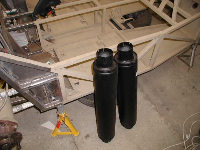 Some pics of the silencers. I find it hard to believe that these will have enough silencing effect to get the job done but we'll see soon enough when I get it fired up...