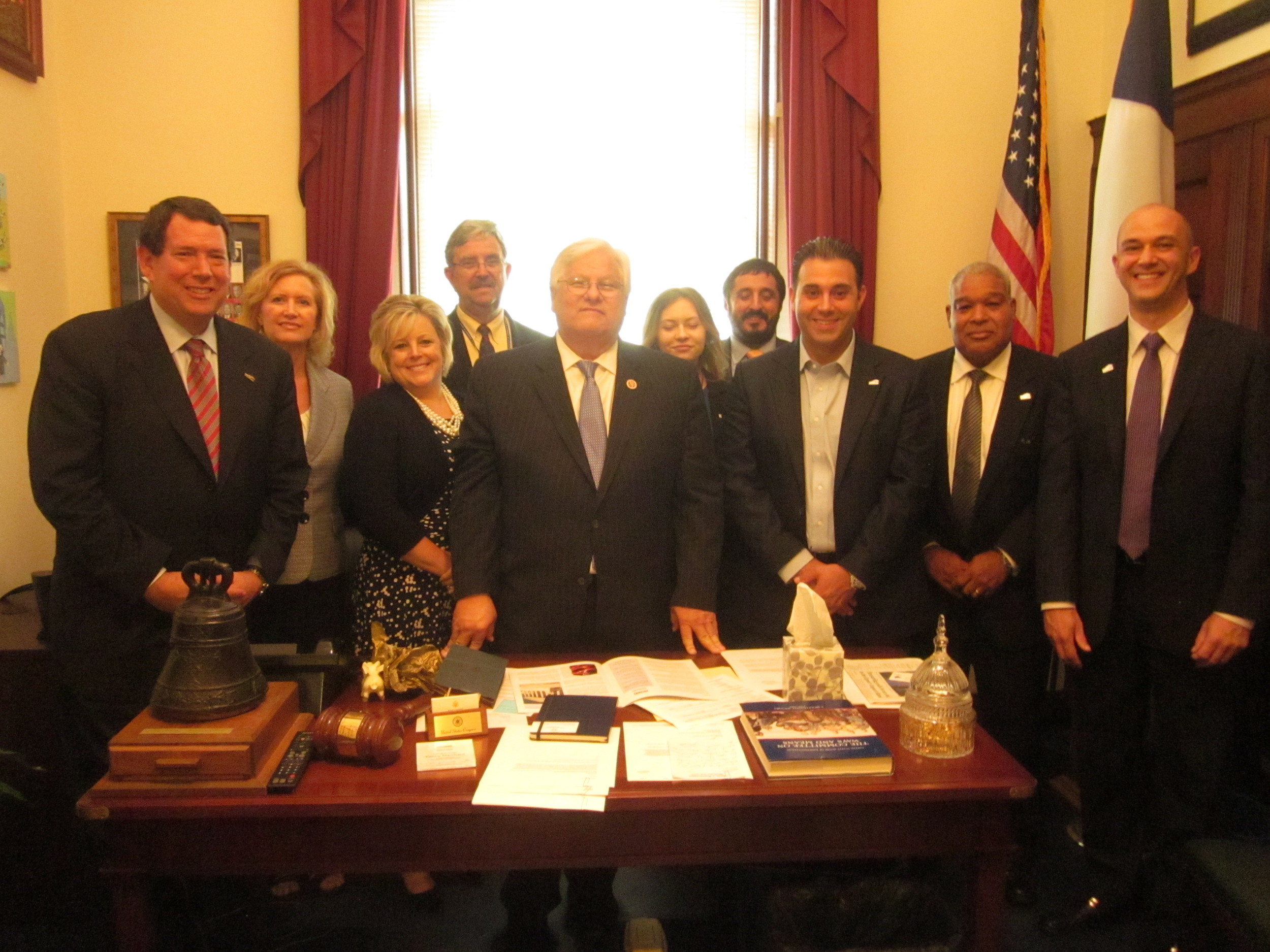 The Irving Delegation with U.S. Congressman Kenny Marchant.