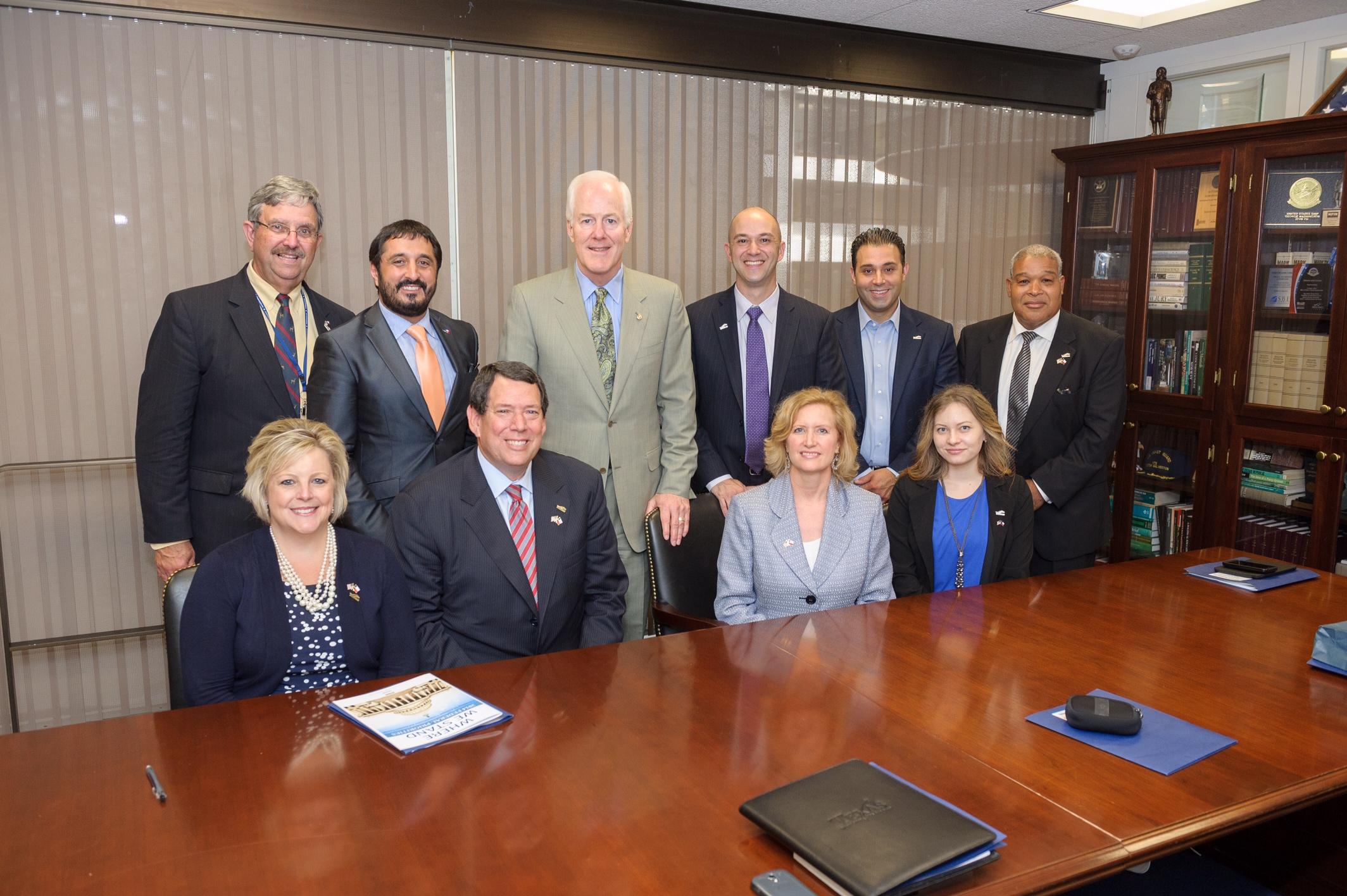 The Irving Delegation with U.S. Senator John Cornyn.