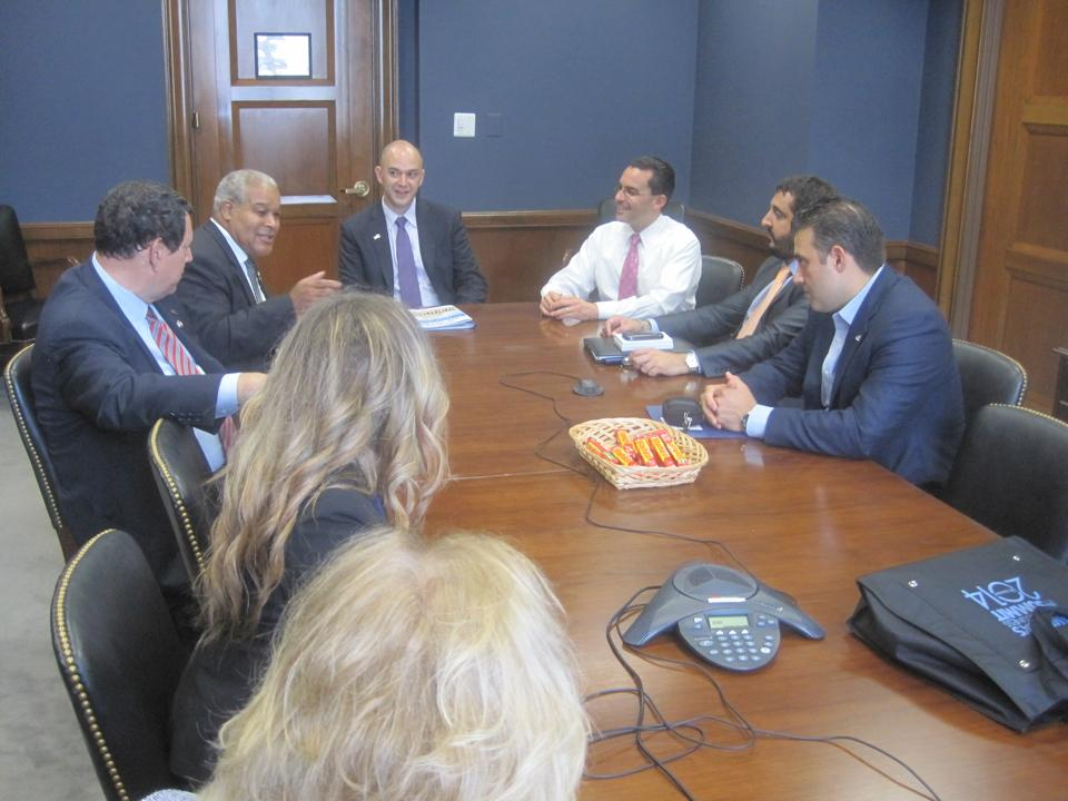 The Irving delegation meeting with Paul Teller, Deputy Chief of Staff for Senator Ted Cruz.