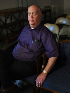Coroner Steve Talbott, in his funeral home  (Photo by Michael S. Williamson, The Washington Post)