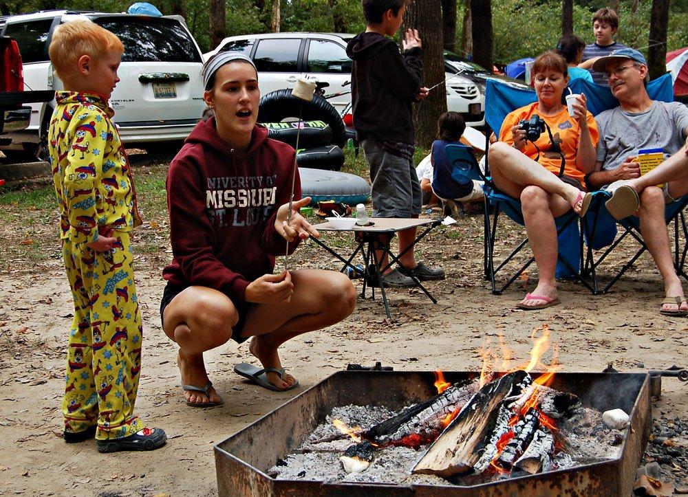 Fireside s'mores