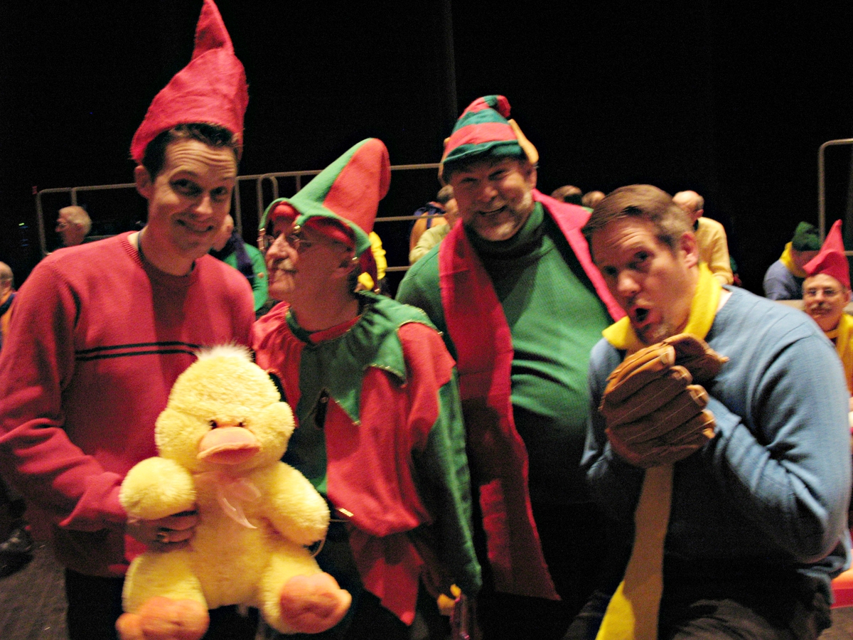 Elves backstage at AOH's 2007 Christmas show.