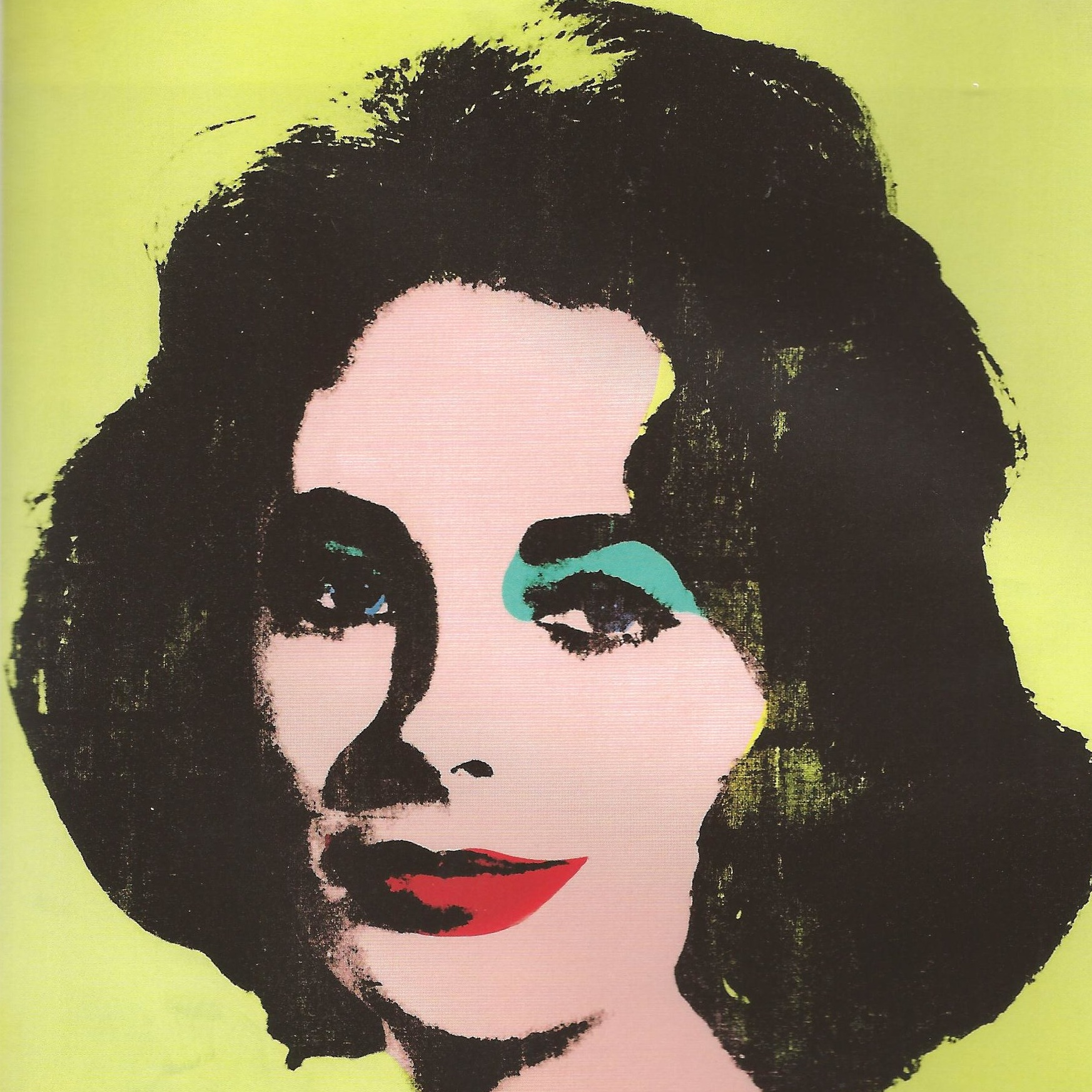 Andy Warhol: Liz #1 (Early Coloured Liz), 1963  Silkscreen ink and acrylic on linen, 101.6 cm x 101.6 cm  L&M Arts: New York – Los Angeles