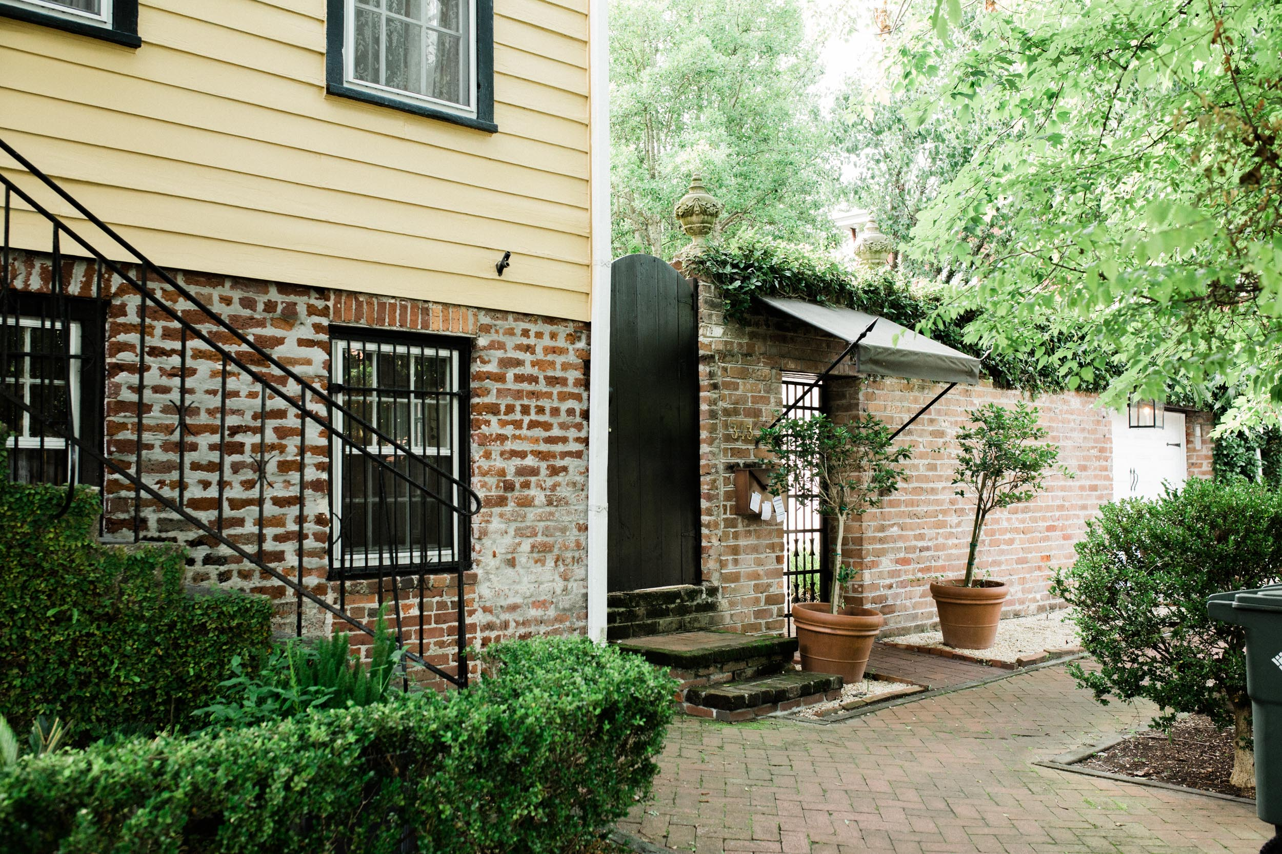 Entrance to our Air BNB on Tattanall, at the edge of the historic district, Savannah is amazingly walkable.