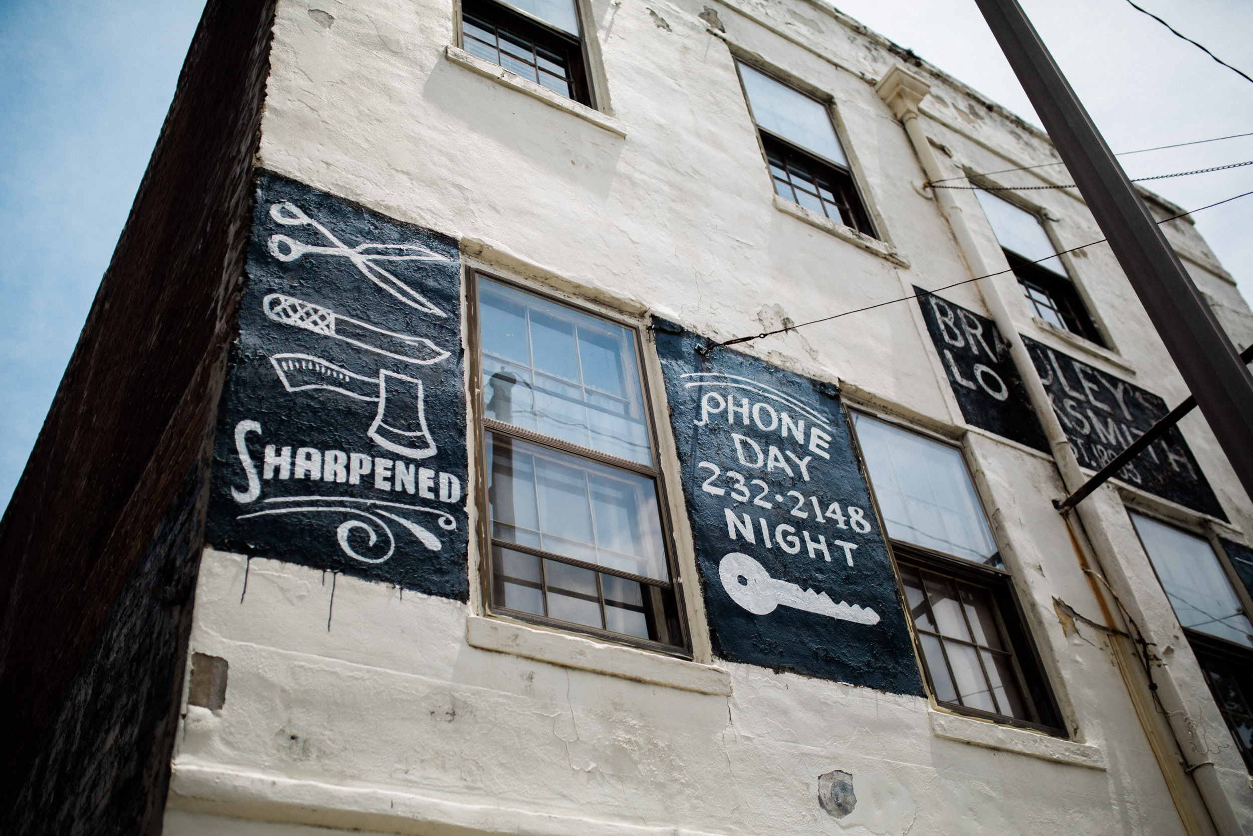 I'm a little obsessed with old, hand-painted signage on the buildings of Savannah