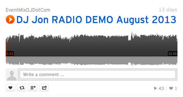 DJ Jon Radio Demo for August 2013