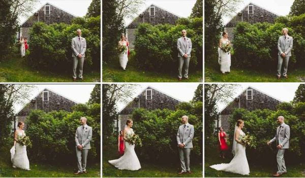 Should we do a first look? Photo by  Erin Little Photography