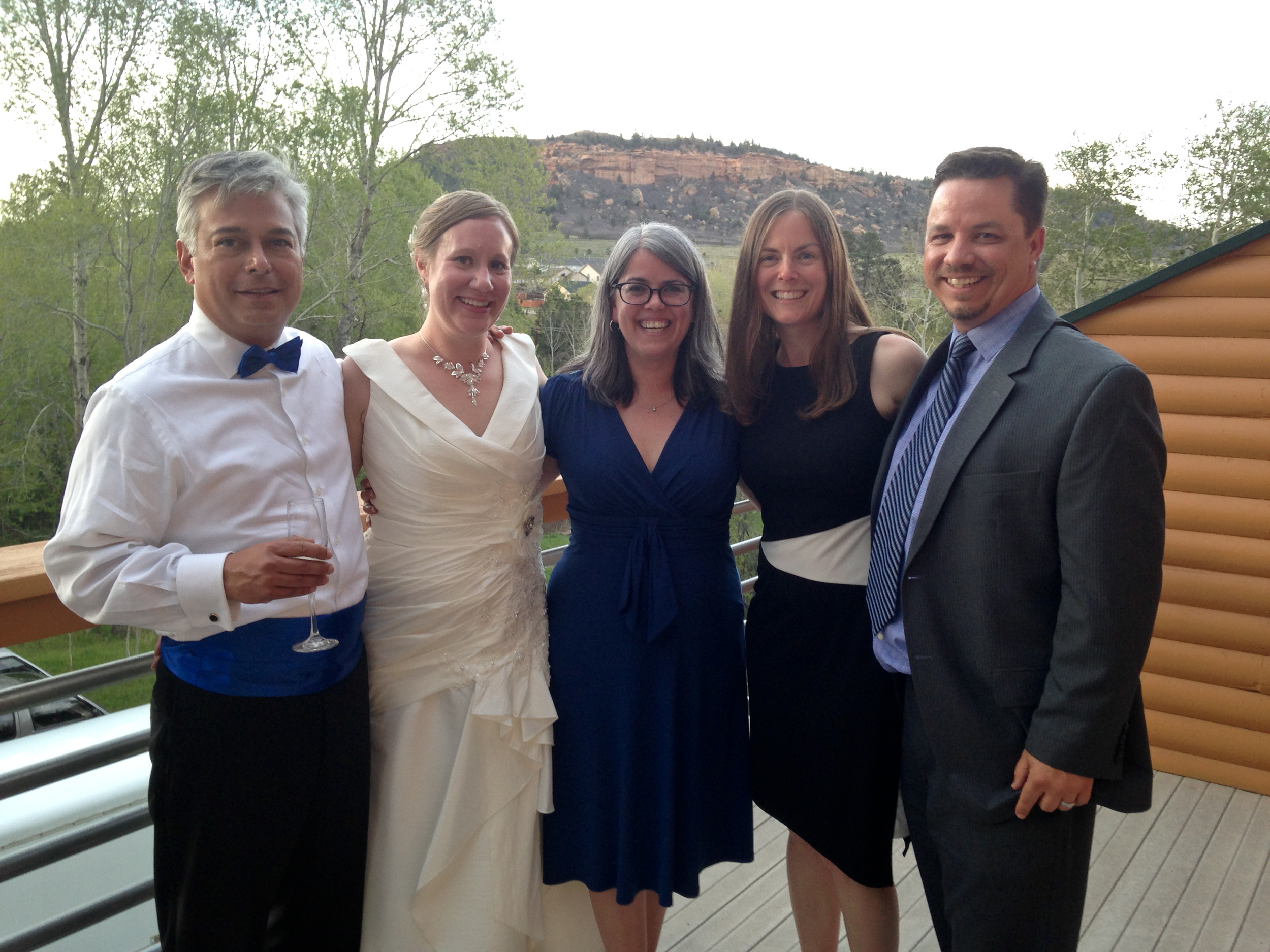 From left: Paul, Sharon, me, Katie and Jason - friends forever!
