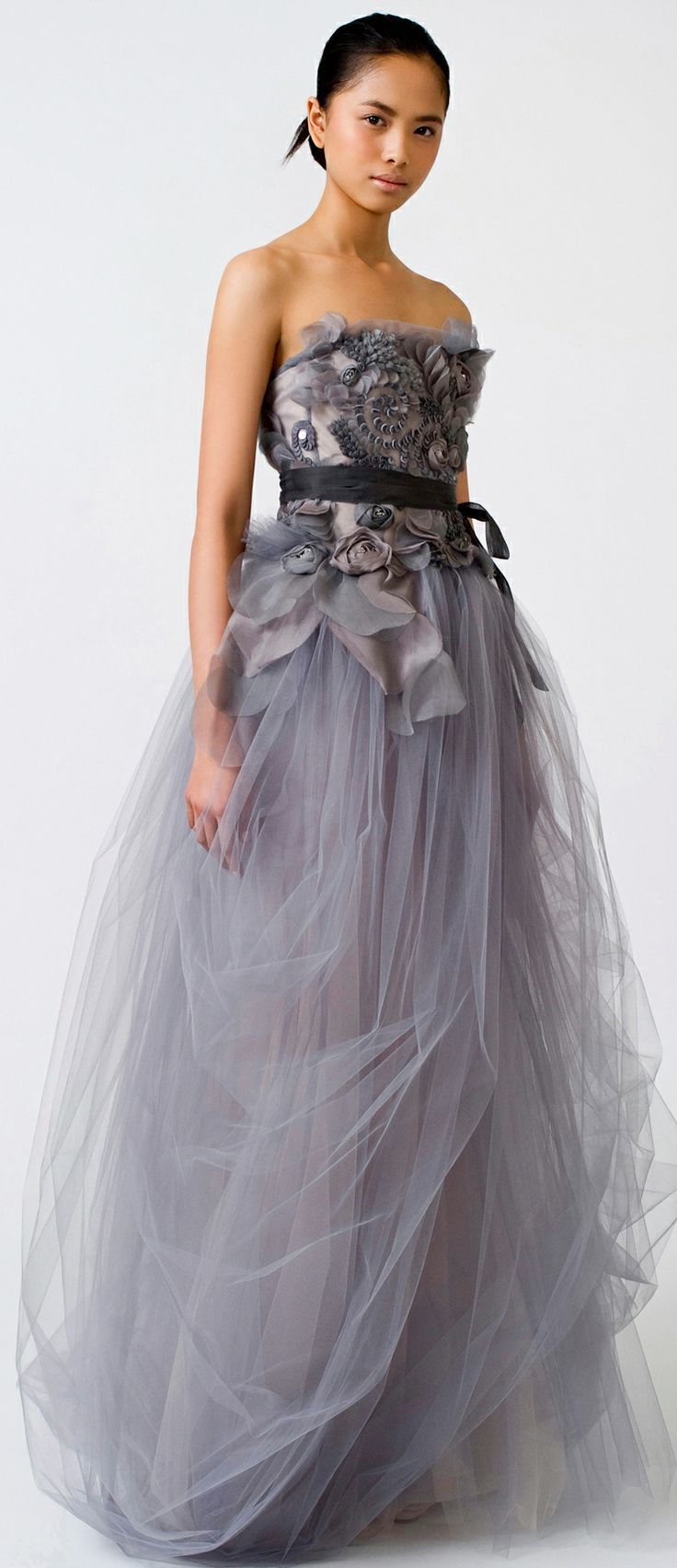 Vera Wang Grey Wedding Dress