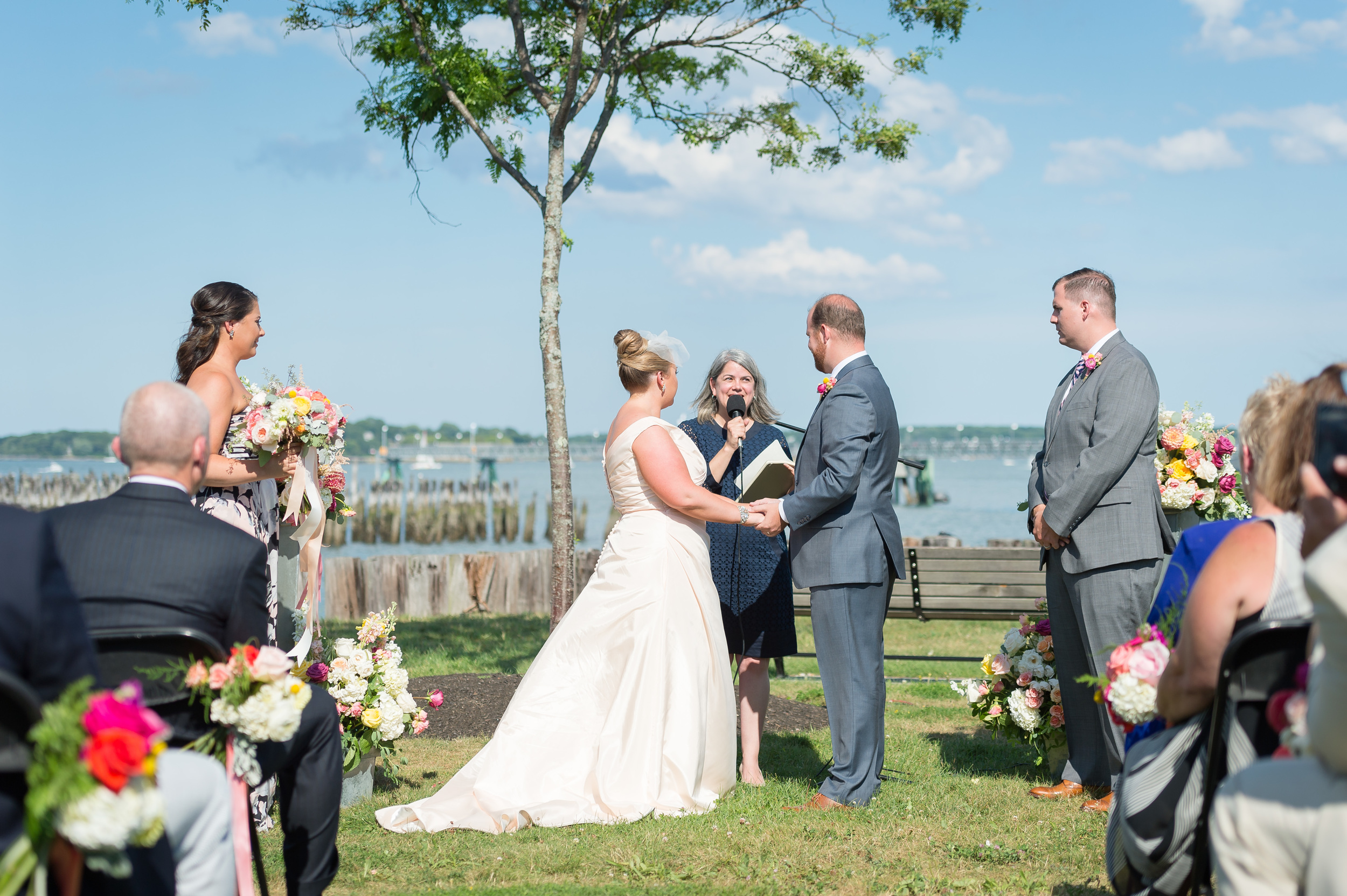 What is the ideal length for a wedding ceremony? Photo by  Christian Arthur Photography