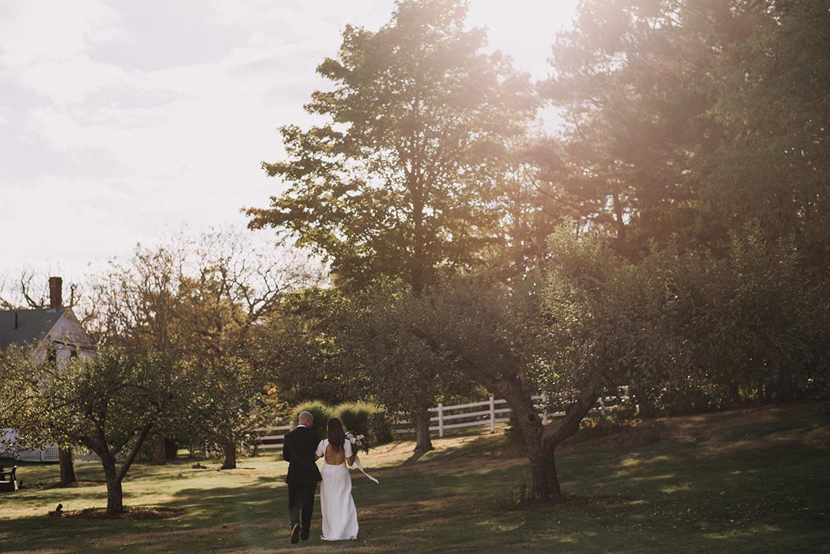 Maine wedding officiant at Live Well Farm | Cortney Vamvakias Photography