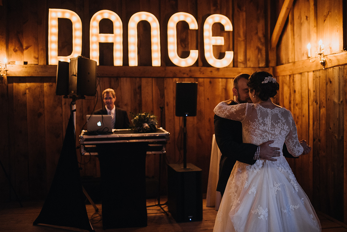 Maine wedding dj's to light up your wedding reception. | Photo by  Cortney Vamvakias Photography