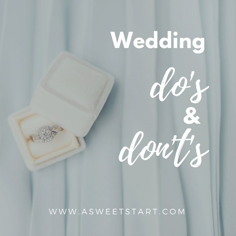 A great list of wedding do's and don't's from  A Sweet Start , an experienced Maine wedding officiant