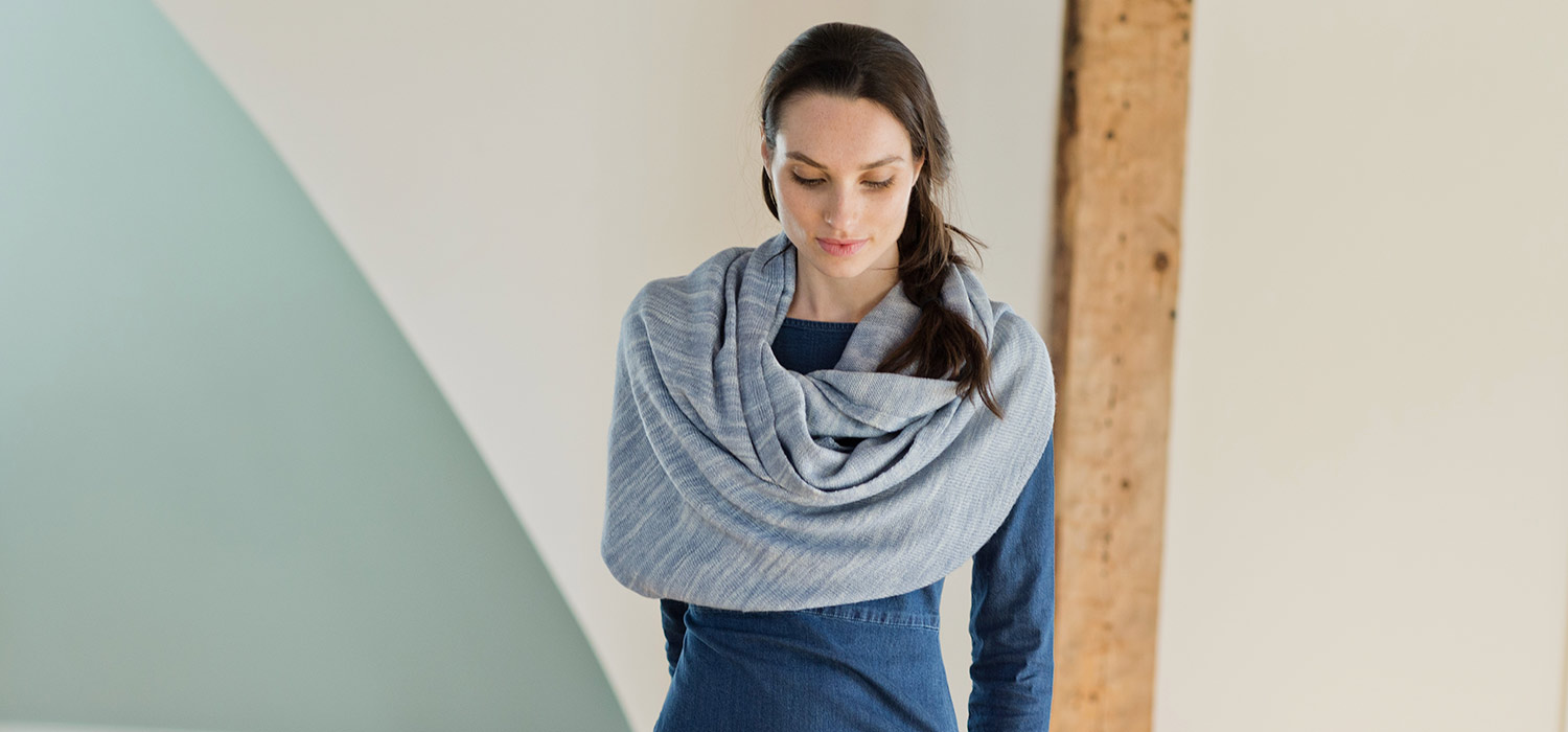 Merino wool Kennebunk Wrap from Swans Island Company in midcoast Maine