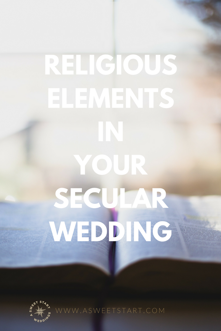Ideas for incorporating religious elements into your secular wedding from A Sweet Start, a professional Maine wedding officiant | Photo by  Carolyn V  on  Unsplash