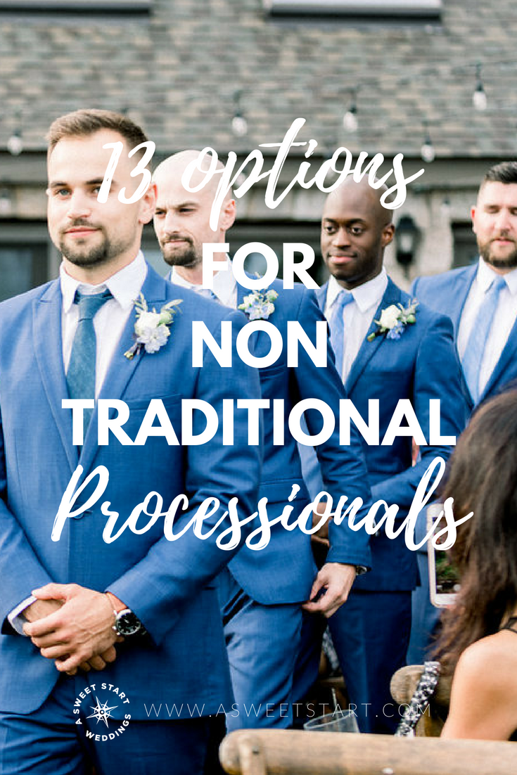13 Nontraditional Processional Formations A Sweet Start