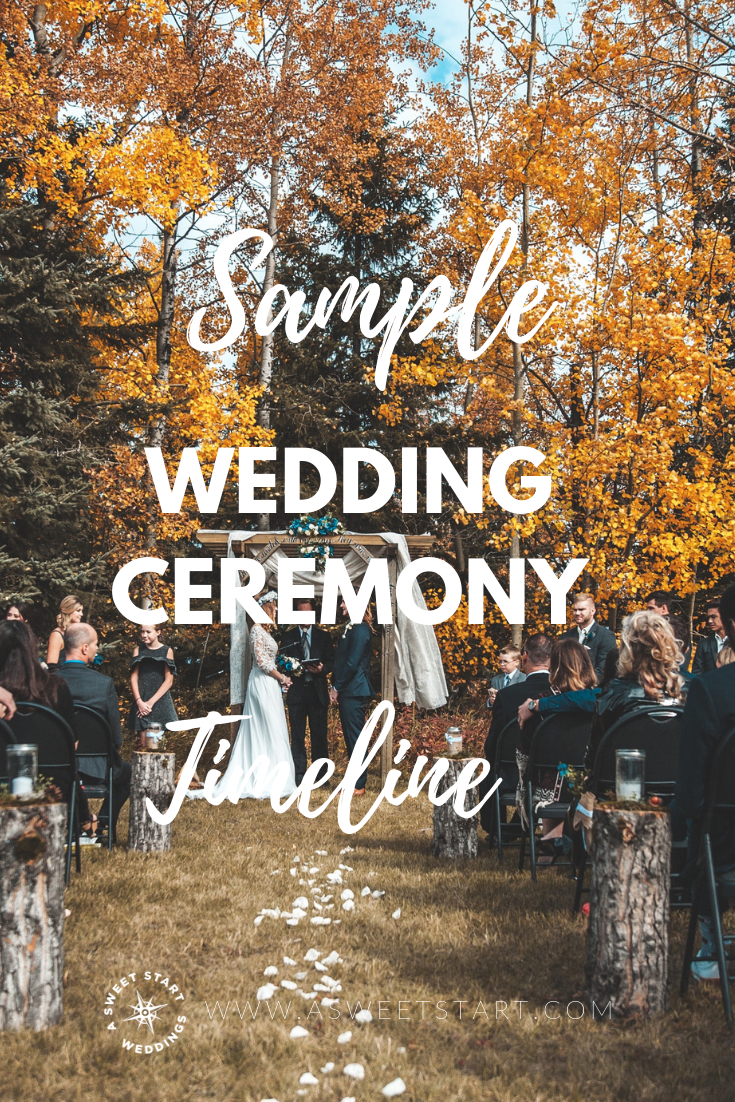 A sample wedding ceremony timeline provided by an experienced professional wedding officiant. Photo by  Banter Snaps  on  Unsplash
