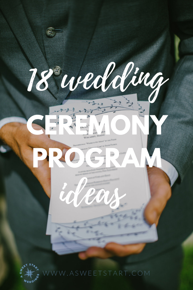 18 ceremony program ideas you might not have thought of. Photo by  Greta Tucker Photography .