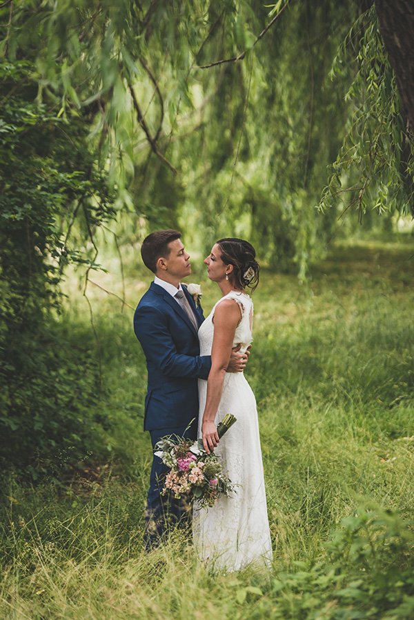 Beautiful, rainy, apple orchard wedding officiated by  A Sweet Start  | Photo by  Ben Wheeler Photography