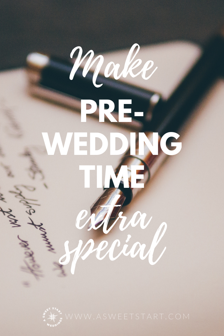 A great idea for making the time right before the wedding ceremony extra special. Bonus: introverts will love this idea! Photo by  Álvaro Serrano