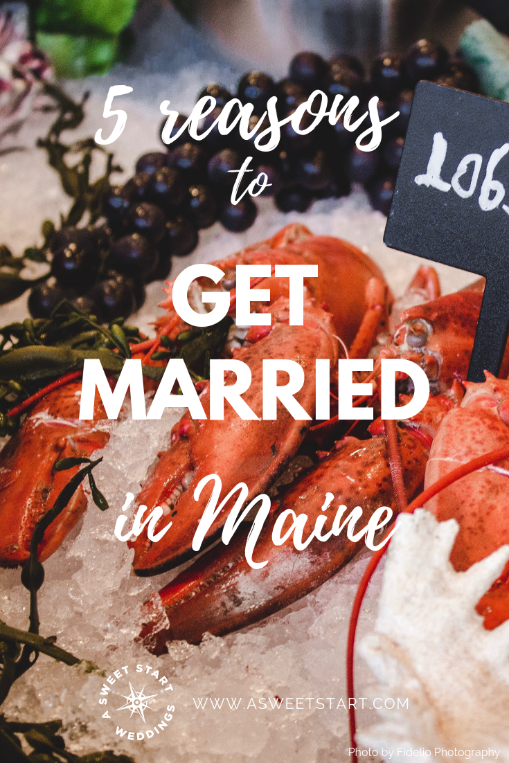 Top 5 reasons to get married in Maine | Photo by Photo by  Louis Hansel