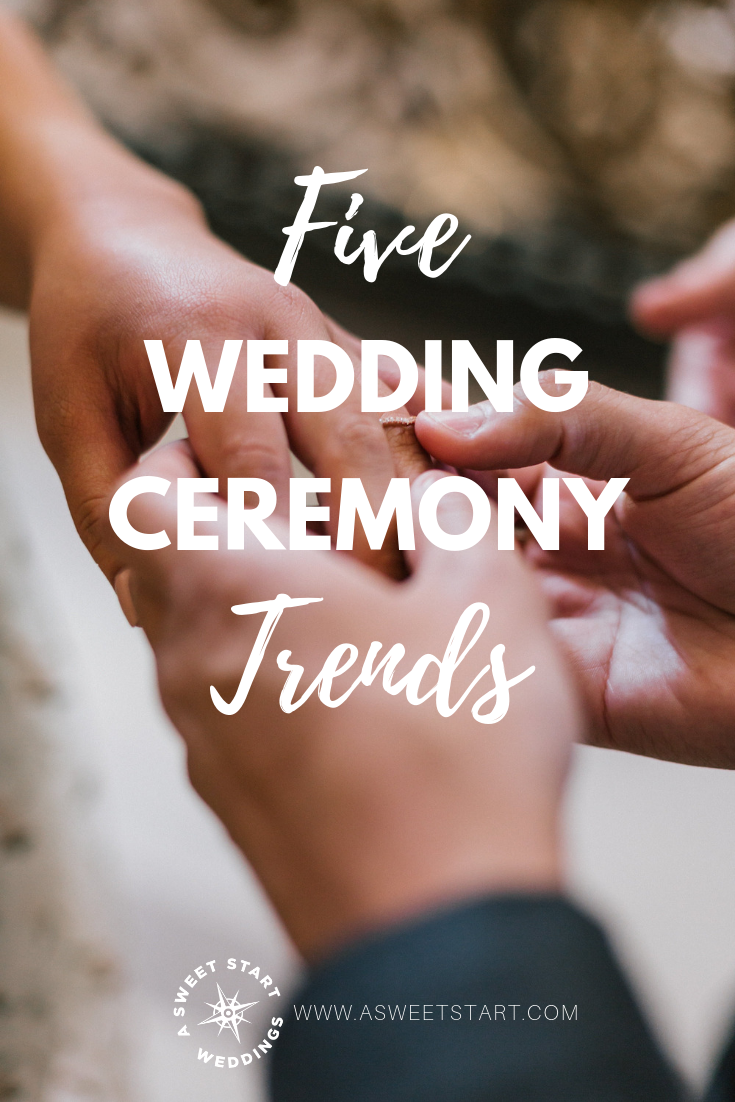 5 wedding ceremony trends you might not have thought of. Read them all on the blog! Photo by  Kevin Lanceplaine