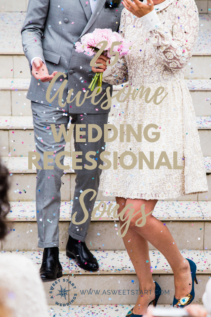 25 awesome, upbeat wedding recessionals song to rock the end of your wedding ceremony | Photo by  Sweet Ice Cream Photography