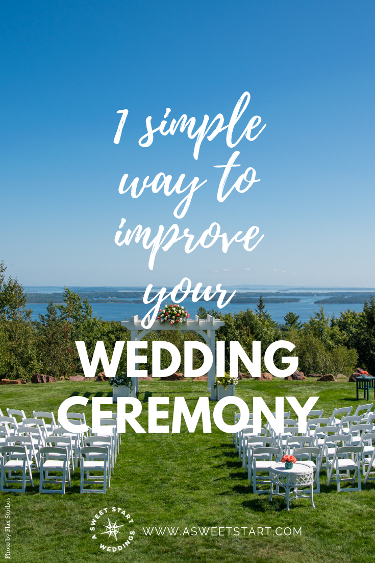One simple way to improve the wedding ceremony experience. Photo by  Flax Studios  #weddingceremony