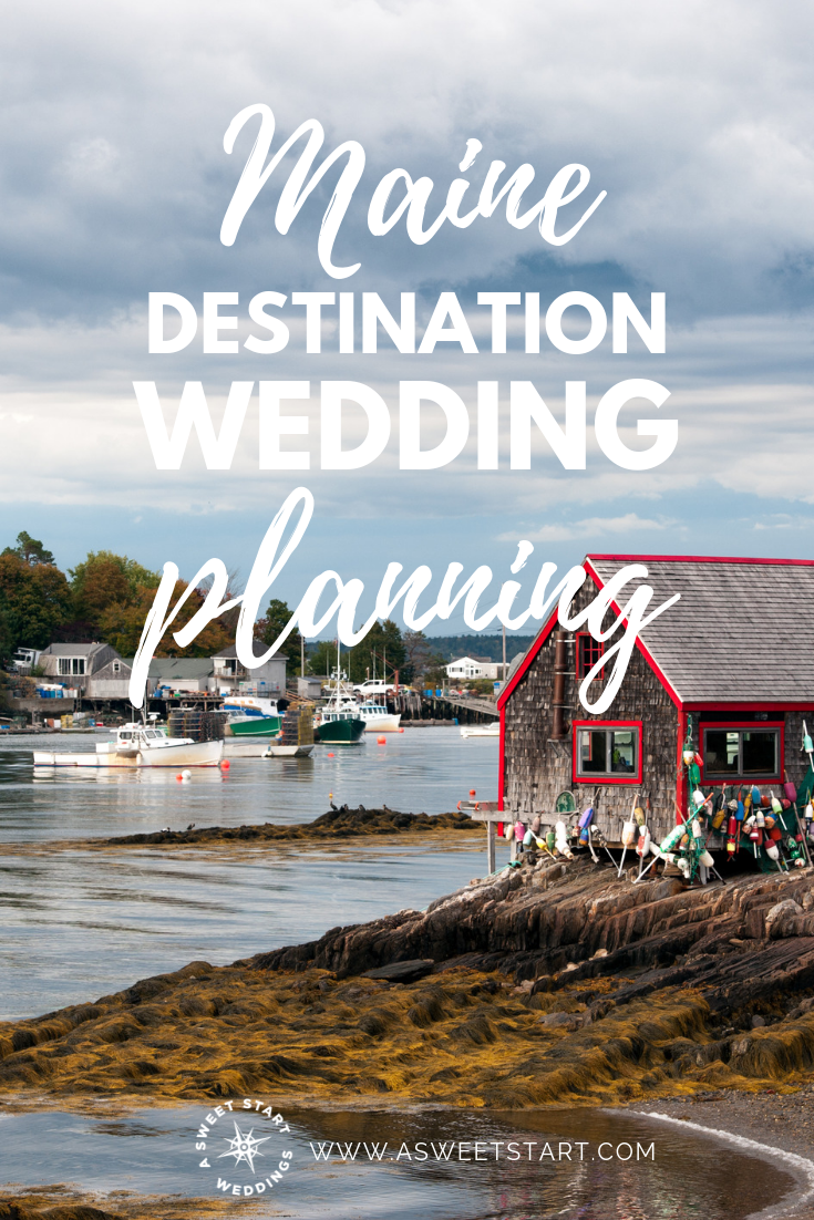 One bride's experience with planning a Maine destination wedding and her advice for other couples getting married in Maine.