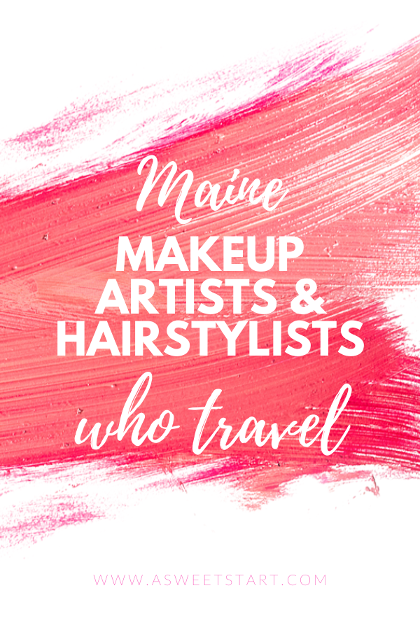 Maine-based hairstylists and makeup artists who provide on-site service. #weddingbeauty #weddingmakeup