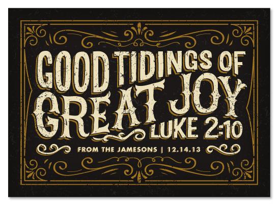 good tidings of great joy via minted