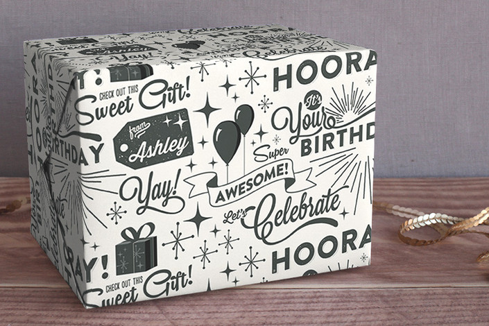 sweet gift personalized wrapping paper by  geekink design