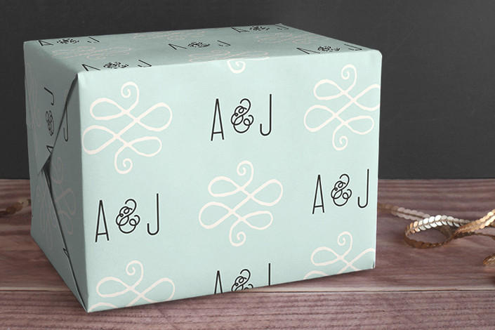alford park personalized wrapping paper by  jennifer wick