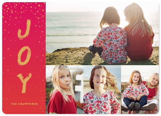 sprinkled joy holiday photo card