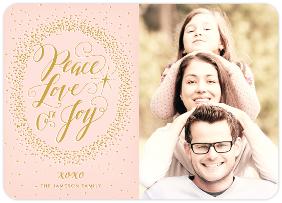 peace love & joy holiday photo card