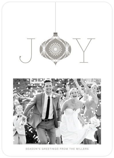 elegant joy holiday photo card